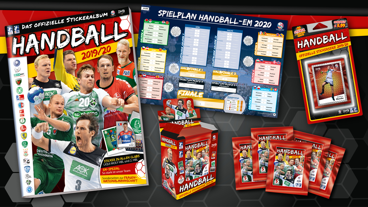 Handball-Stickerkollektion 2019/20